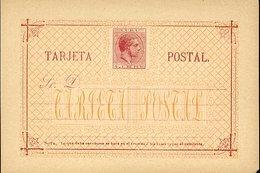 39442-Edifil Postcard Type II #18cb, Carmin And Orange 1882 - Cuba