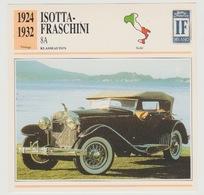Verzamelkaarten Collectie Atlas: Isotta-fraschini 8A - Voitures