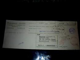 Vieux Papier Lettre De Change Etab Julien à Marseille Traverse E La Madrague Ville 1960 - Bills Of Exchange