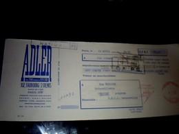 Vieux Papier Lettre De Change ADLER Faubourg St Denis Paris 1960 - Bills Of Exchange