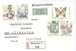 FDC 1966  REGISTERED  JACHYMOV - FDC