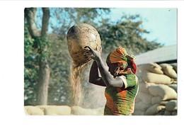 Cpm - Lumières D'Afrique - Ventage Du Riz - Femme Au Travail - Photo Alain Denis 3211 - 1982 - Afrika