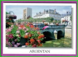 CPM - 61 - ARGENTAN - Les Bords De L'Orne  Vue Sur Du Pont Fleurs Geranium - Argentan