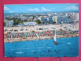 Italie - Rimini - Plage Et Hotels - Griffe Linéaire Annulation BEZONS - Recto-verso - Rimini