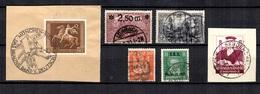 Allemagne/Reich Six Bonnes Valeurs Oblitérées 1900/1939. B/TB. A Saisir! - Germany