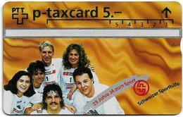 Switzerland - Swisscom (L&G) - Sporthilfe - KP100.21A - 25 Jahre Ja Zum Sport, Winners - 502L - 02.1995, 5Fr, Mint - Zwitserland