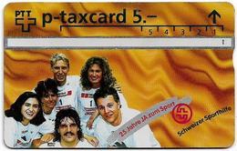 Switzerland - Swisscom (L&G) - Sporthilfe - KP100.21B - 25 Jahre Ja Zum Sport, Winners - 503L - 03.1995, 5Fr, Used - Zwitserland