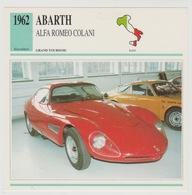 Verzamelkaarten Collectie Atlas: ABARTH Alfa Romeo Colani - Voitures