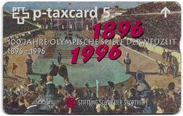 Switzerland - Swisscom (L&G) - Sporthilfe - KF-285 - 100 Jahre Olympische Spiele - 603L - 03.1996, 5Fr, 11.000ex, Used - Zwitserland