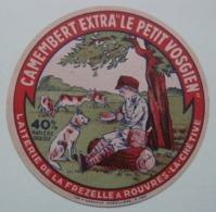 Etiquette Camembert - Le Petit Vosgien - Fromagerie De La Frezelle à Rouvres-la-Chétive 88 - Vosges   A Voir ! - Fromage