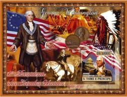S. TOME & PRINCIPE 2007 - G. Washington, American Indians - Mi B579, YT BF376 - Indiani D'America
