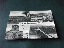 SALUTI DA FORDONGIANUS CAGLIARI  DIGA PONTE SUL TIRSO CHIESA PARROCCHIALE PANORAMA - Greetings From...