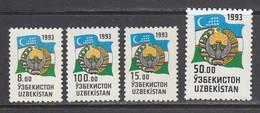 Usbekistan 1993. National Symbols Of Uzbekistan. 4 W. MNH, Pf. - Ouzbékistan