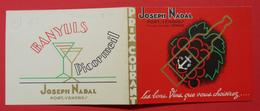 Vieux Carton Publicitaire Les Bons Vins  Picormeil Vin Banyuls De Joseph Nadan 66 Port-Vendres Catalan - Advertising