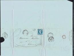 """Fr - 1861 """"F. Dormoy & Cie - Maîtres De Forges à Rimaucourt - N° 14 B Sur Lettre Pour Villaines-La-Juhel - TB - - Marcophilie (Lettres)"""