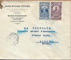 ETHIOPIA 1962 Cover Sent To Zurich 2 Stamp COVER USED - Ethiopie