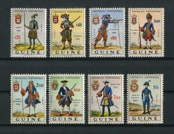 Portuguese Guinea Guine 1966 MILITARY UNIFORMS, UNIFORMES MILITAIRES Complete Set MNH, FVF - Portuguese Guinea