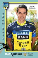 CARTE CYCLISME ALBERTO CONTADOR TEAM SAXO BANK - TINKOFF 2013 - Cyclisme
