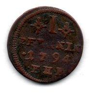 Rostock  -  1 Pfennig 1794  FHB  -  état  B+ - [ 1] …-1871 : Stati Tedeschi
