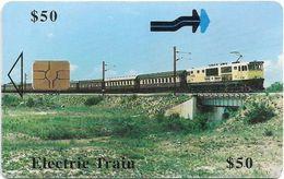 Zimbabwe - PTC - Electric Train - Chip Gem5 Red, 50z$, Exp. 12.2000, 80.000ex, Used - Simbabwe