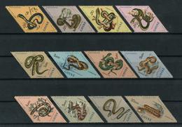 Portuguese Guinea Guine 1963 SNAKES. ANIMALS, REPTILES, SERPENTS. ANIMAUX Complete Set MNH, FVF - Portuguese Guinea