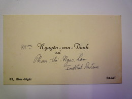 2020 -  5814  DALAT  (Vietnam)  :  CARTE De VISITE De NGUYÊN-van-DANH  XXX - Visiting Cards