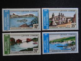 1973 COMORES Y&T N° 80 à 83 ** - TOURISME, PAYSAGES DIVERS - Neufs