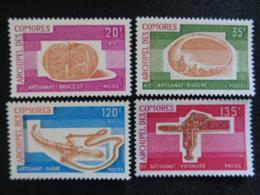 1975 COMORES Y&T N° 97 à 100 ** - ARTISANAT 2 - Komoren (1950-1975)