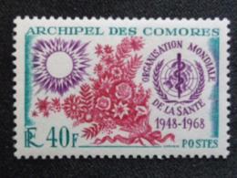 1968 COMORES Y&T N° 46 ** - 20e ANNIV. DE L'OMS - Komoren (1950-1975)