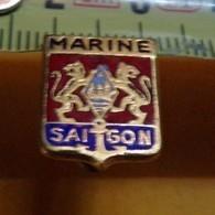 REDUCTION: Marine SAIGON, Armoiries, émail , ETAT VOIR PHOTO  . POUR TOUT RENSEIGNEMENT ME CONTACTER. REGARDEZ MES AUTRE - Navy