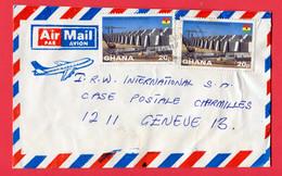 Ghana 198...  To Switzerland - Ghana (1957-...)