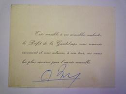 2020 -  5815  CARTE De VOEUX Du PREFET De La GUADELOUPE  XXX - Visiting Cards