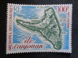 1972 P.A. COMORES Y&T N° 49 ** - CARTE DE L'ILE D'ANJOUAN - Komoren (1950-1975)
