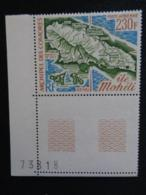 1975 P.A. COMORES Y&T N° 67 ** - CARTE DE L'ILE MOHELI - Komoren (1950-1975)