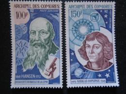 1973 P.A. COMORES Y&T N° 55 & 56 ** - HANSEN ET NICOLAS COPERNIC - Komoren (1950-1975)