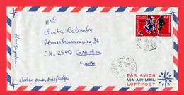 Tunesia,  Tunesien 1977   To Switzerland - Tunesië (1956-...)
