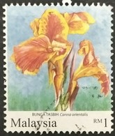 128. MALAYSIA USED STAMP FLOWERS - Malesia (1964-...)