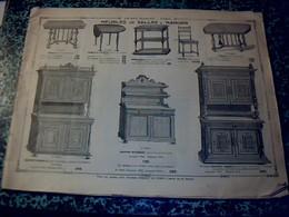 Vieux Papier Publicité  Catalogue De 1912 Au Bon Marché Paris Meubles De Salle à Manger 48 Pages - Advertising