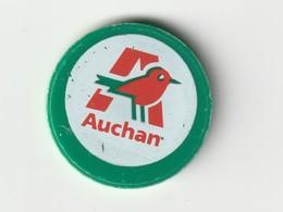 JETON DE CADDIES : Magasin AUCHAN - Trolley Token/Shopping Trolley Chip