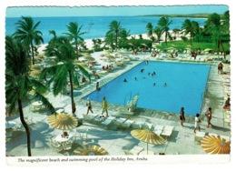Ref 1367 - 1984 Postcard Holiday Inn Aruba - Netherland Antilles 60c Rate To Isle Of Wight - Aruba