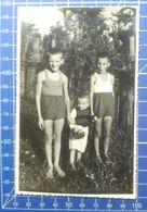 B&W Amateur Photo Boy Village Garden 1820 - Anonymous Persons