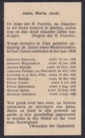 Overzicht Overleden Medebroeders Oud-Gastel, 1939 - Religion & Esotericism