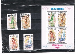 SEYCHELLES : REEKS + BL  POSTFRIS-MNH - Seychelles (1976-...)