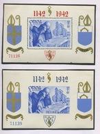 ORVAL 1942. Paire * Des Petits Blocs Dent Et Non Dentelé Les Moins Cher . Cote. 20,-euros. Charnière Propre - Blocs 1924-1960