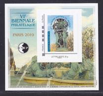 CNEP N° 80 NEUF ** MNH - VI ème BIENNALE PHILATELIQUE PARIS 2019, Bloc Adhésif, TB - CNEP
