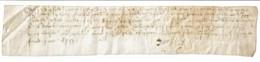 Parchemin Manuscrit Sur Peau - Non Daté (vers 1550 / 1600) - 24 X 4,5 Cm - Manuscrits