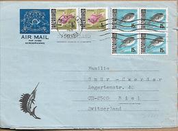 TANZANIA 1972 AEROGRAMME Send To Biel 6 Stamps AEROGRAMME USED - Tansania (1964-...)