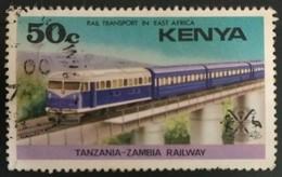 128. KENYA (50C) USED STAMP RAIL TRANSPORT IN EAST AFRICA - Kenia (1963-...)