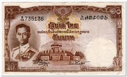 THAILAND,10 BAHT,1953,P.76d,VF - Tailandia