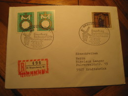 BRAUNSCHWEIG 1979 Windmill Cancel Registered Cover GERMANY Mill Mills Moulin A Vent Moulins - Windmills